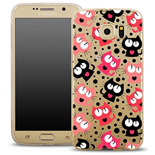 OohColor-Fitty-Funda-para-mviles-Samsung-funda-carcasa-case-elstico-Cover-Print-Stylish-suave-funda-patrn-Diseo-ultrafina-flexible-Lujo-Diseo-Slim-silicona-blanco-MPA139-Katze-fr-SAMSUNG-GALAXY-S7