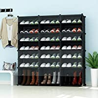Premag Portable Shoe Storage Organzier Tower, with transparent doors, Modular Cabinet Shelving for Space Saving, Shoe Rack Shelves for shoes, boots, Slippers