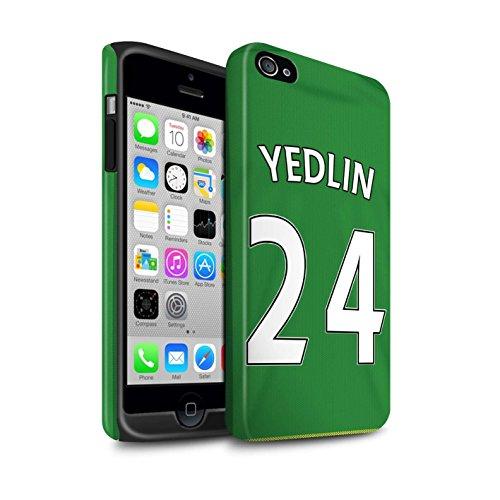 Offiziell Sunderland AFC Hülle / Matte Harten Stoßfest Case für Apple iPhone 4/4S / Pack 24pcs Muster / SAFC Trikot Away 15/16 Kollektion Yedlin