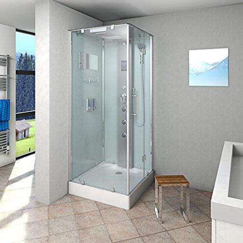 AcquaVapore DTP6038-1002R Dusche Dampfdusche Duschtempel Duschkabine 90x90, EasyClean Versiegelung der Scheiben:2K Scheiben Versiegelung +99.-EUR
