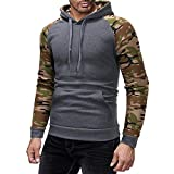 NINGSANJIN Herren Pullover Slim Fit Hoodie Long Sleeve Kapuzenpullover 3D Druck Muster Sweatshirt Pullover (Dark Grau,M)