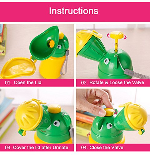 Inchant Portable Urinal Potty Hygienic Leak proof Childrens Toddlers Car Travel Camping Train Outdoor Toilet for Baby Girls