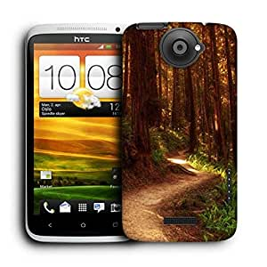 Snoogg Red Forest Printed Protective Phone Back Case Cover For HTC One X