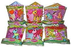 Lalaloopsy Mini Ponies- Flutterwings, Honeycomb, Lady B., Glowy , Carousel 5 and 6 Mini Pony Figures