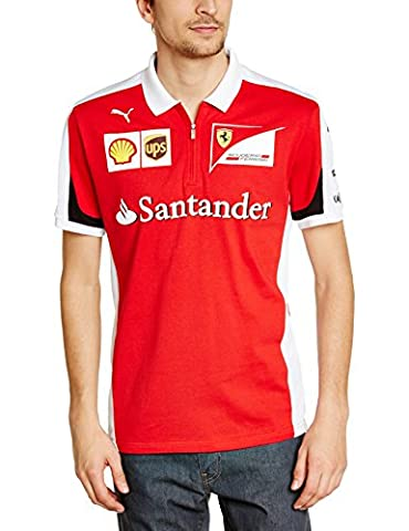 Puma Sf Team Polo Homme Rosso Corsa FR : M (Taille Fabricant : M)