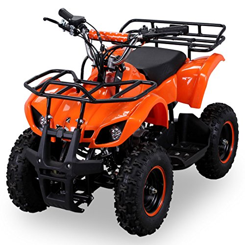 Kinder Miniquad TORINO 49 CC MOTOR 2 Takt ATV Pocket Quad Kinderquad Kinderfahrzeug (Orange)
