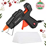 Hot Glue Gun, Tacklife GGO20AC Classic 20W Mini Hot Melt Glue Gun with Glue Sticks (100mm, 50pcs), Brass Nozzle and Robust Bracket for DIY Handcrafts and Small Repairing Jobs