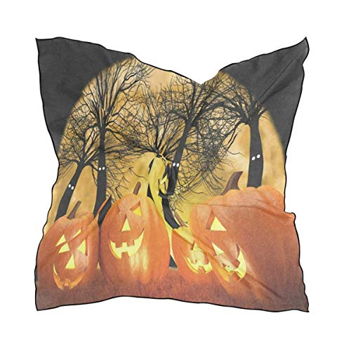 Vidmkeo Halloween Pumpkin Ghost Women's Bandana Small Square Neck Scarf Silk Scarfs/Headband/Scarves Favor New4