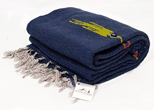Pizarra azul Thunderbird Heavyweight Yoga–-manta para sofá o hecho para Yoga.