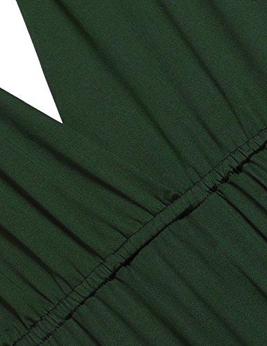ZEARO Abendkleid Damen Kleider Abendkleid elegant Vintag Kleider hochzeit festlich Partykleid lang Dunkelgrün