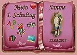 Tortenaufleger Fototorte Tortenbild Schulanfang Einschulung 1. Schultag DIN A5 SE13