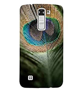 For LG K7 :: LG K7 Dual SIM :: LG K7 X210 X210DS MS330 :: LG Tribute 5 LS675 feather, peacock feather, feather pattern Designer Printed High Quality Smooth Matte Protective Mobile Case Back Pouch Cover by APEX
