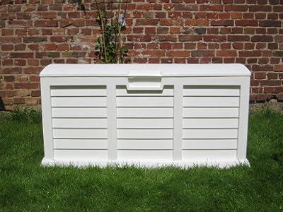 **XXL** Auflagenbox / Gartenbox / Kissenbox **Farbe weiß** ca. 140 x 61 x 69 cm