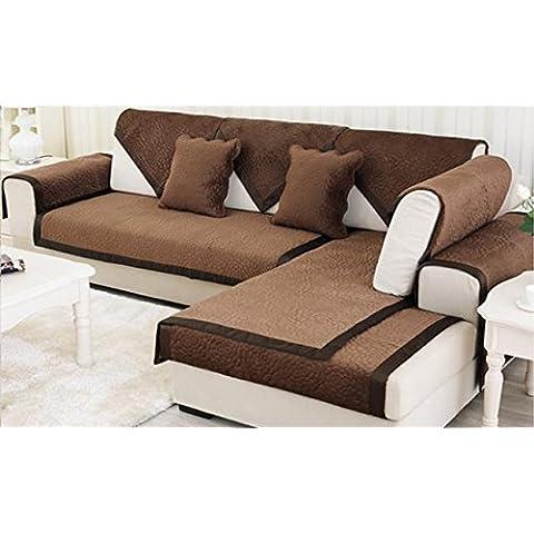 New day-moda Pastorale colore solido antiscivolo breve cuscino del divano peluche , D , 70*180cm