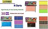 #5: Toy-Station Toy Bullet Foam Dart Bullets for Nerf N-Strike Elite Guns, (30-Pieces NERF Bullets Multicolour)