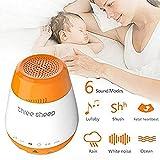 ZTXY Baby White Noise Sleep Machine 6 Sound Sensori di Sonno USB Sonno di Musica con Funzione Sound Sensor Volume Regolabile
