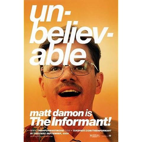 Movie Poster The Informant!, 69 x 102 cm Matt Damon Melaine Lynskey Frank Welker Clancy Scott Bakula Patton Oswalt, colore: marrone