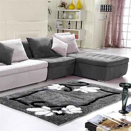 GMM Teppich Teppiche rutschhemmend waschbar europäischen Stil einfach modern Weich und bequem Lving Zimmer Sofa Matte Teppich Schlafzimmer Bett vorne Nachttisch Decke nicht verblasst...