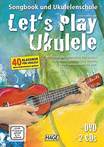 Preisvergleich Produktbild Let's Play Ukulele mit 2 CDs + DVD