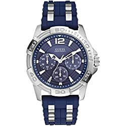 Guess men's Quartz Watch Analogue Display and Silicone Strap W0366G2