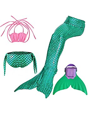 disfraz de sirena Niñas trajes de baño bikini Trajes de dos piezas Regalo de Christmas