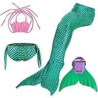 SPEEDEVE Disfraz de Sirena Niñas Trajes de baño Bikini Trajes de Dos Piezas Regalo para Reyes