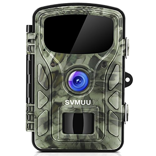 """SVMUU Wildkamera 14 MP 1080P Jagdkamera Beutekameras 2.4"""" LCD mit 940nm IR LED's Sensoren mit Bewegungsaktivierung"""