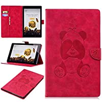 DENDICO Kindle HD10 Leather Flip Notebook Style Case Cover [Stand Function] [Magnetic Closure] [Card Slots] Slim WeightLight Protective Case for Amazon Kindle HD10 - Red