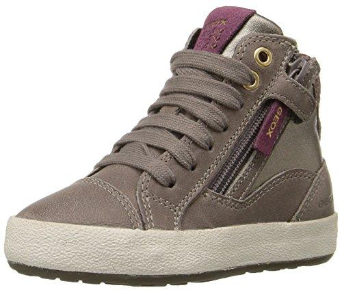 Geox Witty B, Sneakers Hautes Fille, Beige (Smoke GREYC9006), 31 EU