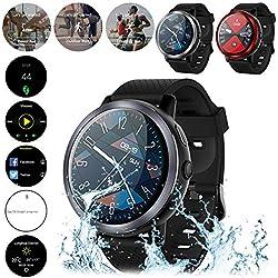 Wintesty LEM8 4G Smart Watch 1.39 Pulgadas Pantalla OLED Android 7.1.1 2GB + 16GB con GPS 2MP Cámara 580 mAh Batería SmartWatch Soporte Tarjeta SIM Adecuado para Hombres y Mujeres
