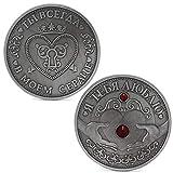 zijianZZJ Gedenkmünze, seltene russische Herz Muttertag Gedenkmünzen Neujahr Souvenirs Sammlung