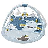 Fehn 065091 3-D-Activity-deken Little Castle – speelboog met 5 afneembare speelgoed – spel & plezier van de geboorte – afmetingen: 85 x 110 cm