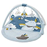 Fehn 065091 3-D-Activity-Decke Little Castle – Spielbogen mit 5 abnehmbaren Spielzeugen – Spiel & Spaß von Geburt an – Maße: 85 x 110 cm