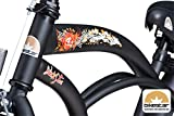BIKESTAR® Premium Design Kinderfahrrad für coole Kids ab 6 Jahren ★ 20er Deluxe Cruiser Edition ★ Teuflisch Schwarz (matt) -