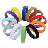 12 teiliges Welpenhalsband in weichem Klett in 20 CM Länge (Größe S) 12 Farben Wiederverwendbar Beschriftbar Für Züchter Von Amathings Welpenhalsbänder