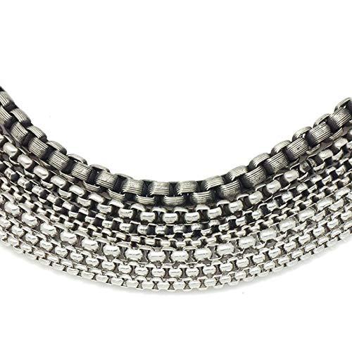 Beydodo Kette ohne Anhänger Herren 1 Pcs Erbskette 70 cm Halskette Titan Herren für Männer Partnerkette