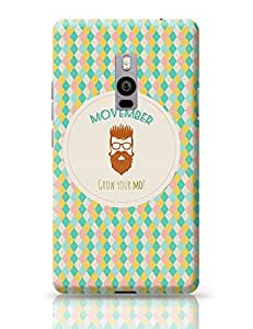 PosterGuy OnePlus Two Case Cover - Movember - Grow Your Mo! with Light Brown Hipster | Designed by: Codeburnerz Technologies
