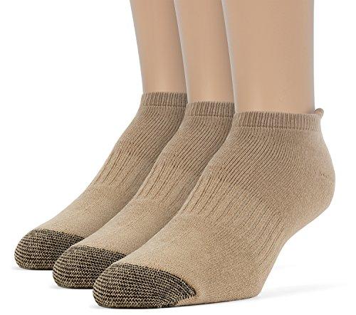 ChanPell Damen Socken, Sportsocken, gepolsterte Komfort, Baumwoll Laufsocken - 3 Paar, Klein, Beige