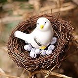 #5: Shopystore Bird Send Random Artificial Nest Bird Eggs Miniature Fairy Garden Home Houses Decoratio