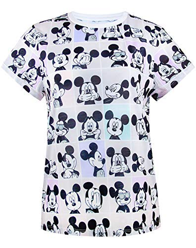 Disney Mickey Mouse Photobooth All Over Print Women's/Damen T-Shirt S-XXXL - Mickey Mouse T-shirt Top
