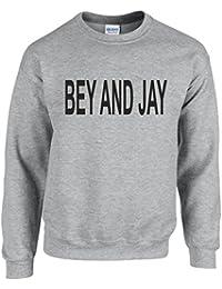 BEY AND JAY ~ GREY SLOGAN SWEATSHIRT ~ UNISEX SIZES S - XXL