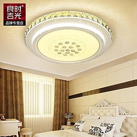 LJJ Led luce di soffitto circolare minimalista moderno gemme camera da letto atmosfera di illuminazione sala luminosa lampade di cristallo , Gioielli disco 24w round caldo colore giallo