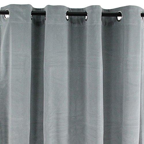 Vorhang mit Ösenaufhängungen Velours hellgrau 140 x 250 VelvetSamt Polyester Extra Weich -