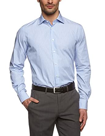 Tommy Hilfiger Tailored Herren Regular Fit Businesshemd Johny SHTSTP99001, Gr. Kragenweite: 41 cm, Blau (018)