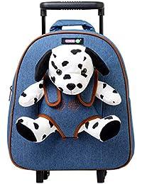 7f9c6e3e3 COOLDOT Mochila Trolley Infantil con Peluche Incorporado para niños Adorable  Bolsa con Ruedas y Juguetes de