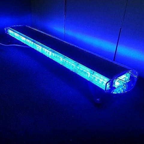 12V-24V 46,5cm 88LED luce stroboscopica emergenza Recupero faro Wrecker lampeggiante luce con allarme luce con Led Blu Luce 88W - Luminoso Perline Blu