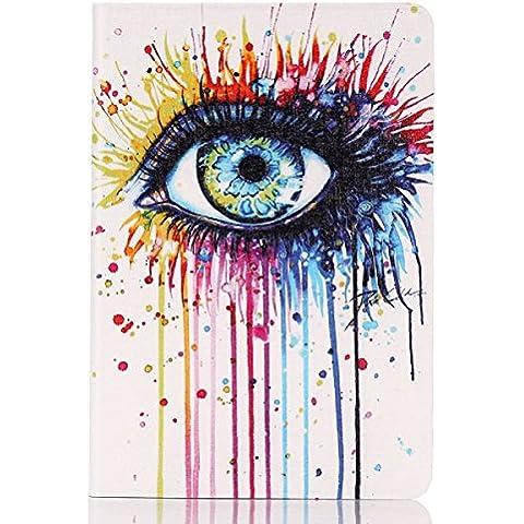 Tongshi Gel Nueva Claro piel de TPU funda de silicona para el mini iPad 1 2 3 Retina (ojo colorido)