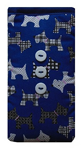 Cute Royal Blue Dogs Print Apple iPhone SE sock / Case / Cover / Pouch