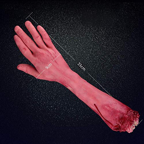 (Hatime Decoration Halloween Toys Sale!!Halloween Scary Fake Organ Prank Toys Halloween Horror Props Lifesize Haunted Pa,Scary Bloody Head House Decoration,Fake Severed Arm Hand and Ect (E))