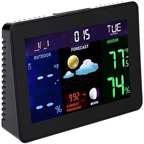 Galleria fotografica Tutoy Ts-70 Digitale Wireless Stazione Meteo Tester Di Temperatura Termometro Monitor Di Umidità Con 2 Ricevitori